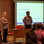 Torunn Skofsrud Boger and Anne-Lise Eng are talking about studen's views on plagiarism